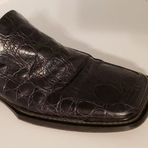 black faux alligator loafers men's Brass Boot 9.5